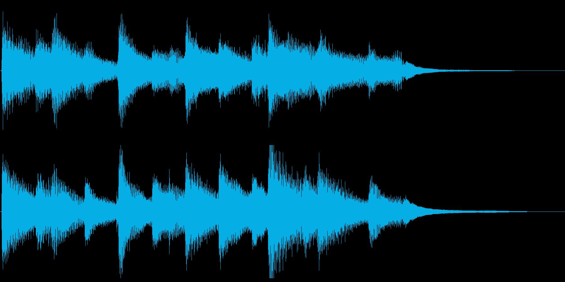 ピアノによるしんみりとしたジングルの再生済みの波形