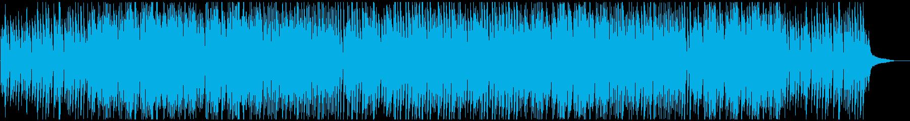 医療系映像に合う明るく清潔感あるピアノの再生済みの波形