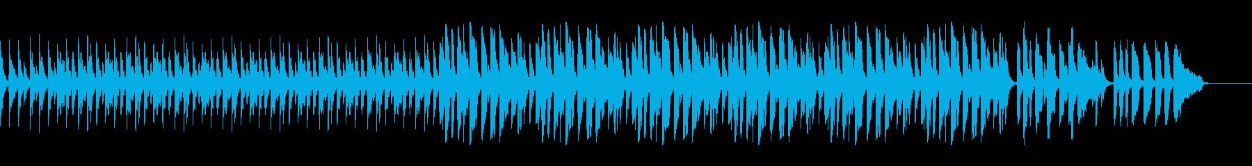 スローテンポピアノソロの再生済みの波形