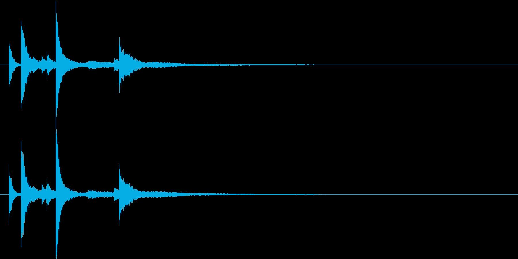 風鈴の再生済みの波形
