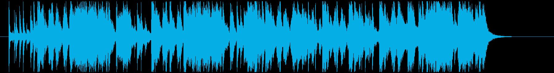 クイズ考え中のBGMの再生済みの波形