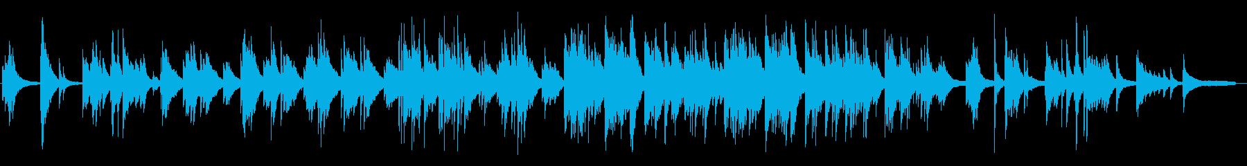 暗く冷たい、悲しいピアノBGMの再生済みの波形