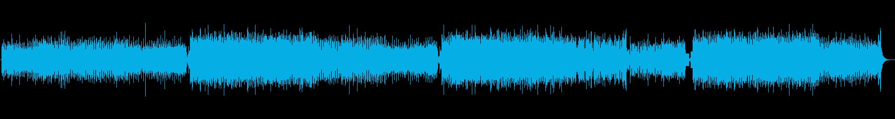 明るくポップで爽快な四つ打ちBGMの再生済みの波形