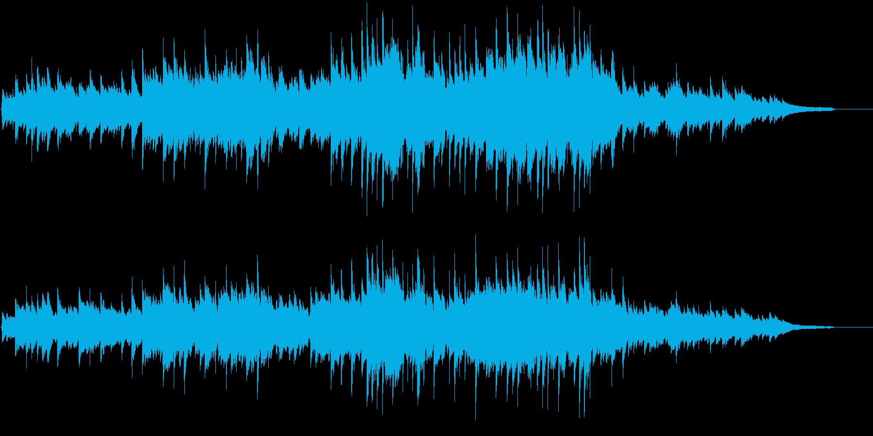 川のせせらぎを感じる涼しげなピアノソロの再生済みの波形