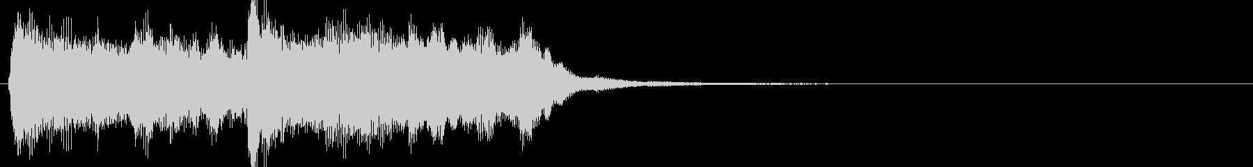 軽い/軽め/小さい ファンファーレ5の未再生の波形