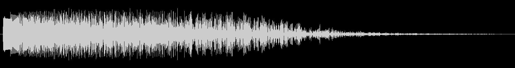 キラキラキラン(指が鍵盤を横に滑る音)の未再生の波形