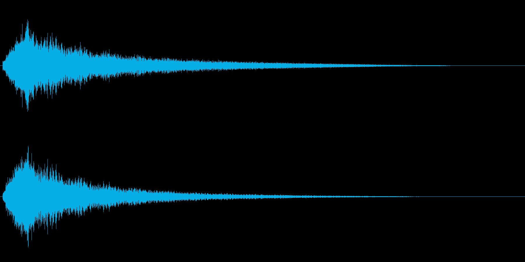 ゲームオーバーなどにの再生済みの波形