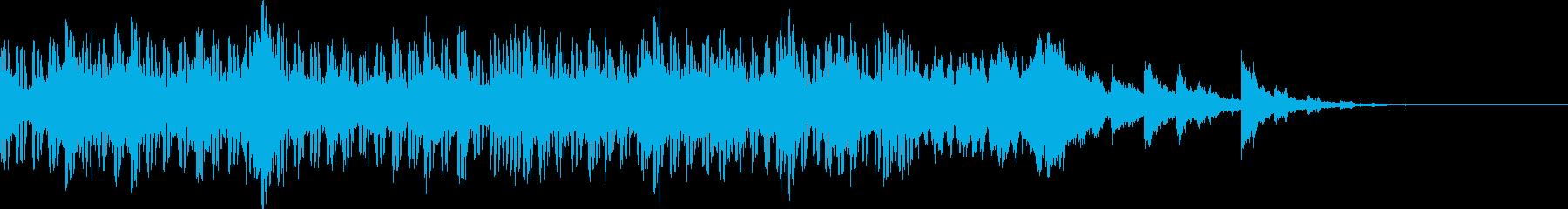 チップチューンのやさしいジングルの再生済みの波形