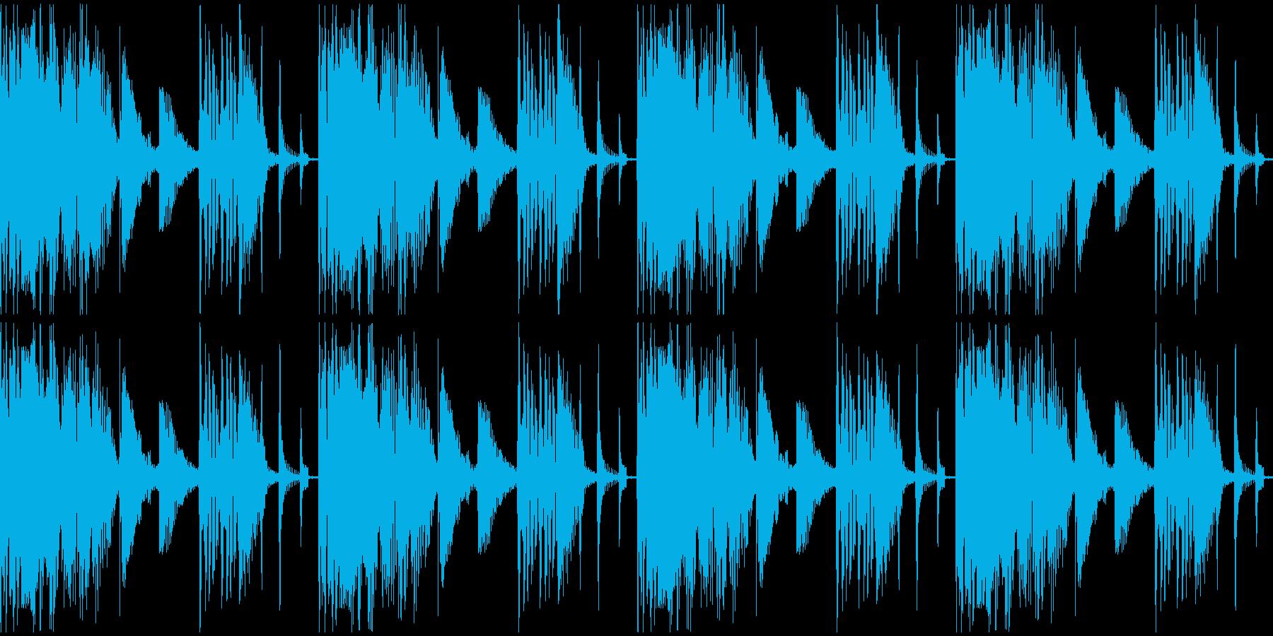 【エレクトロニカ】ロング4、ショート1の再生済みの波形
