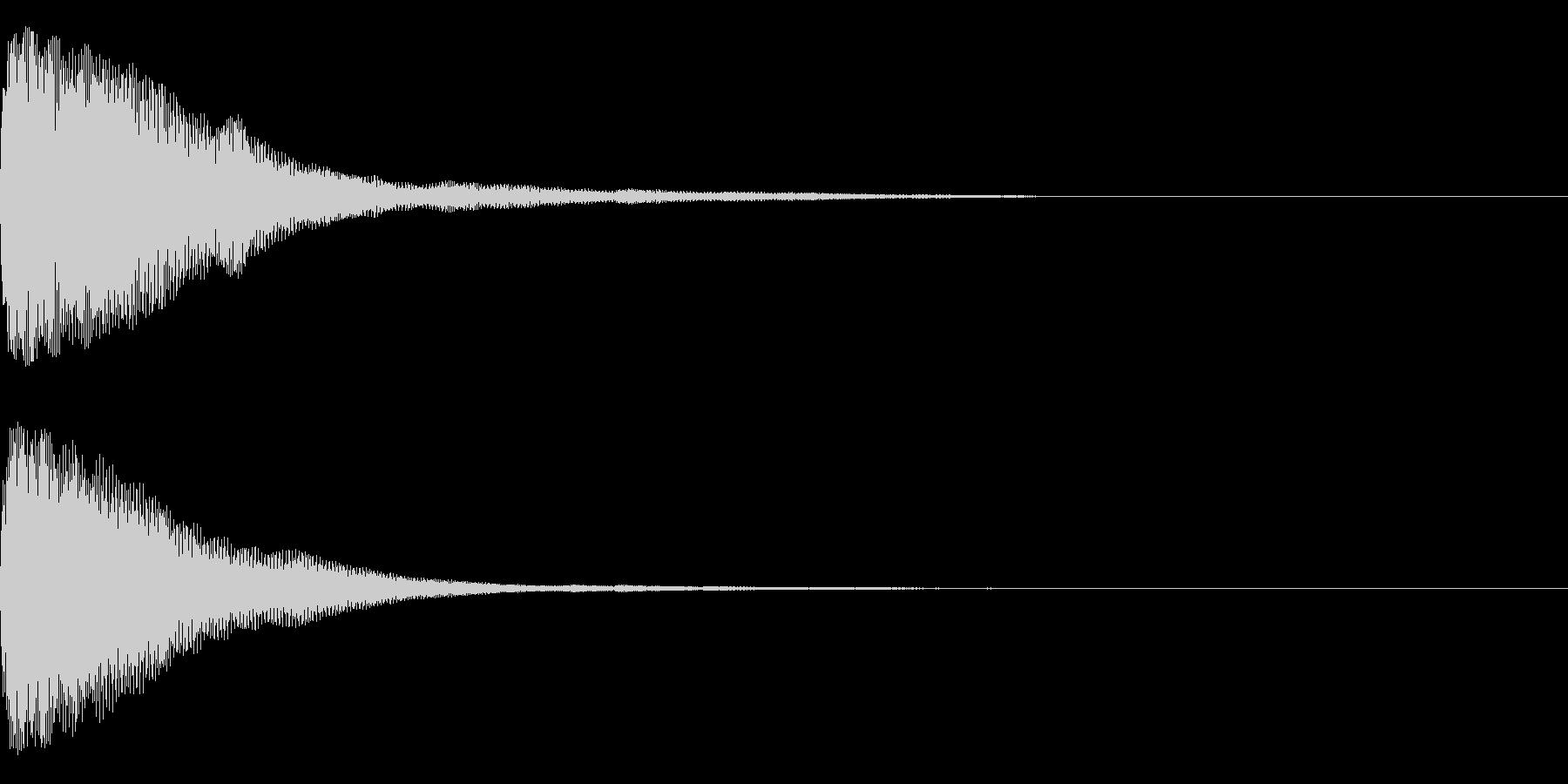 トォーンの未再生の波形