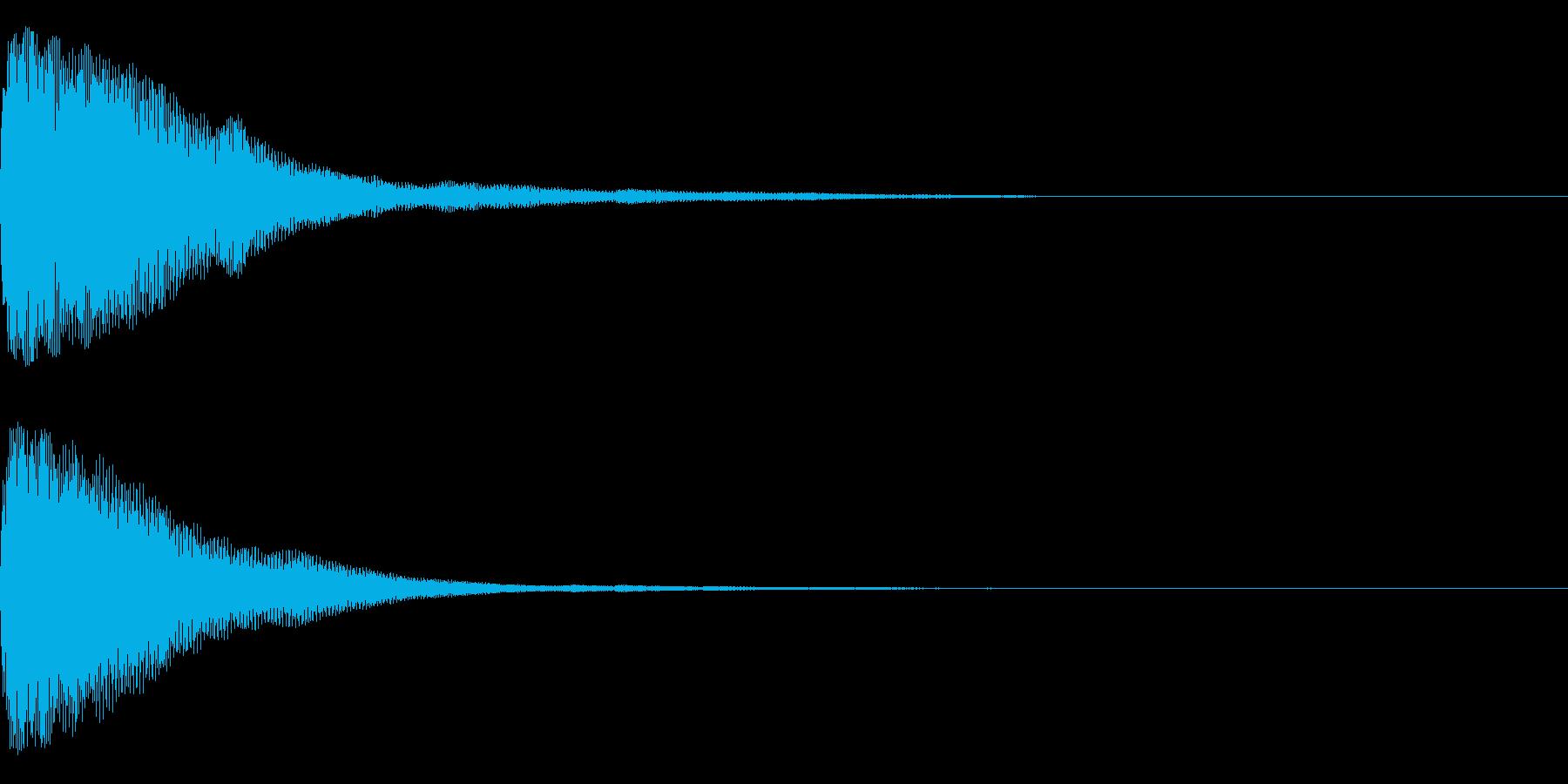 トォーンの再生済みの波形