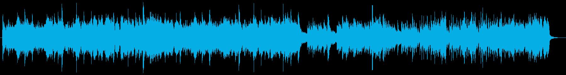 ピアノトリオ風の優しい旋律が特徴の曲の再生済みの波形