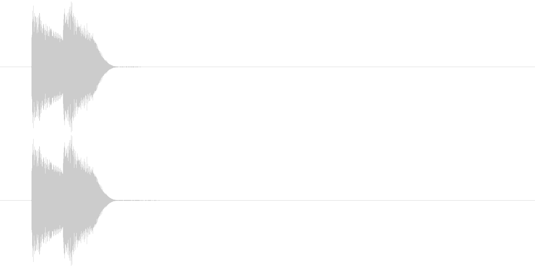 決定音/ピコピコっ/パソコンの未再生の波形