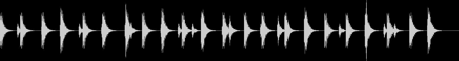 ポタポタ..。洞窟の水滴(低・長)の未再生の波形