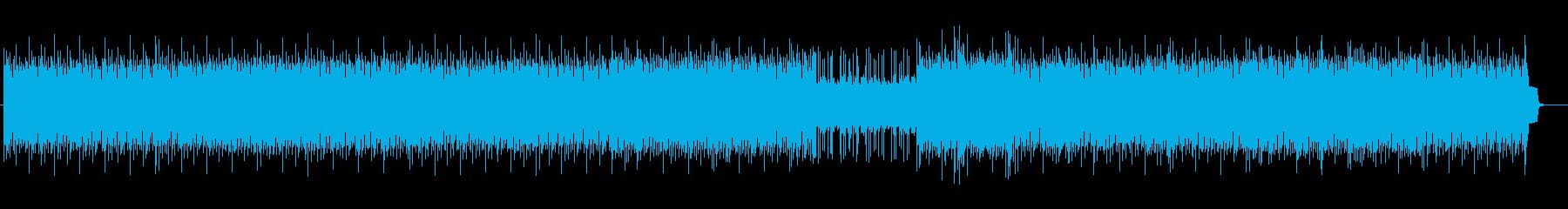 疾走感のあるアップテンポなテクノの再生済みの波形