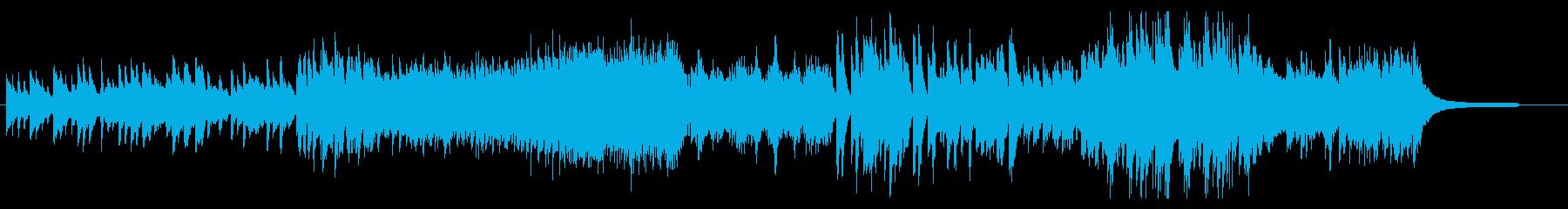 クラシカルで怪しい雰囲気のピアノ独奏曲の再生済みの波形