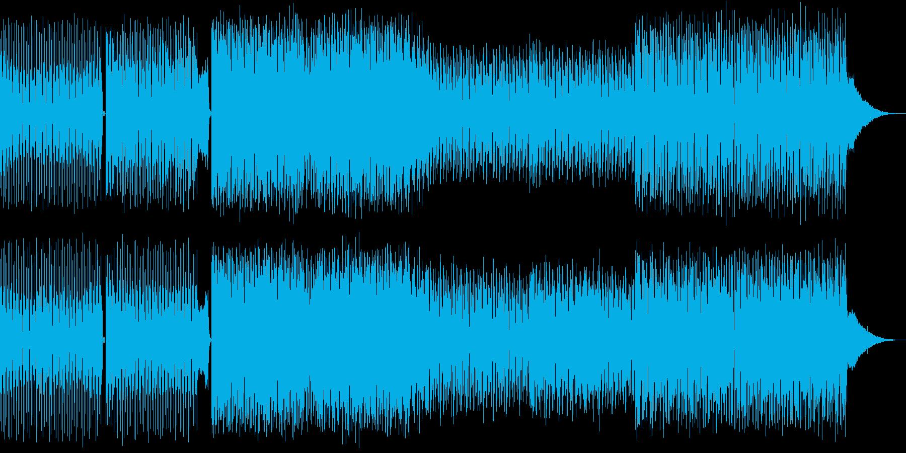 疾走感のあるバトル系四つ打ち曲の再生済みの波形