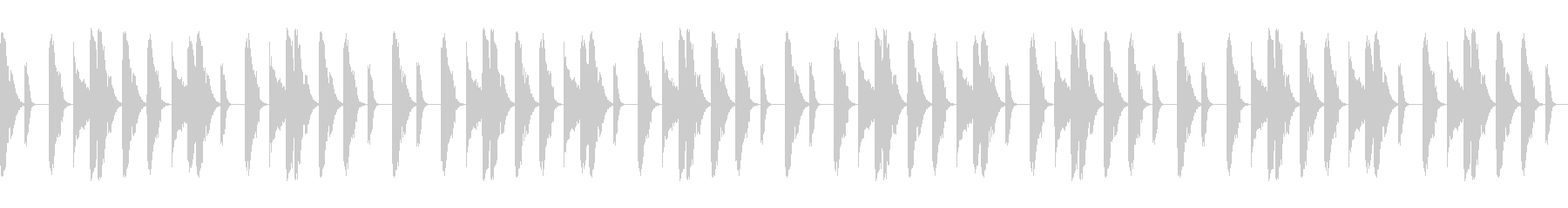 Boombap系ヒップホップビート8小節の未再生の波形