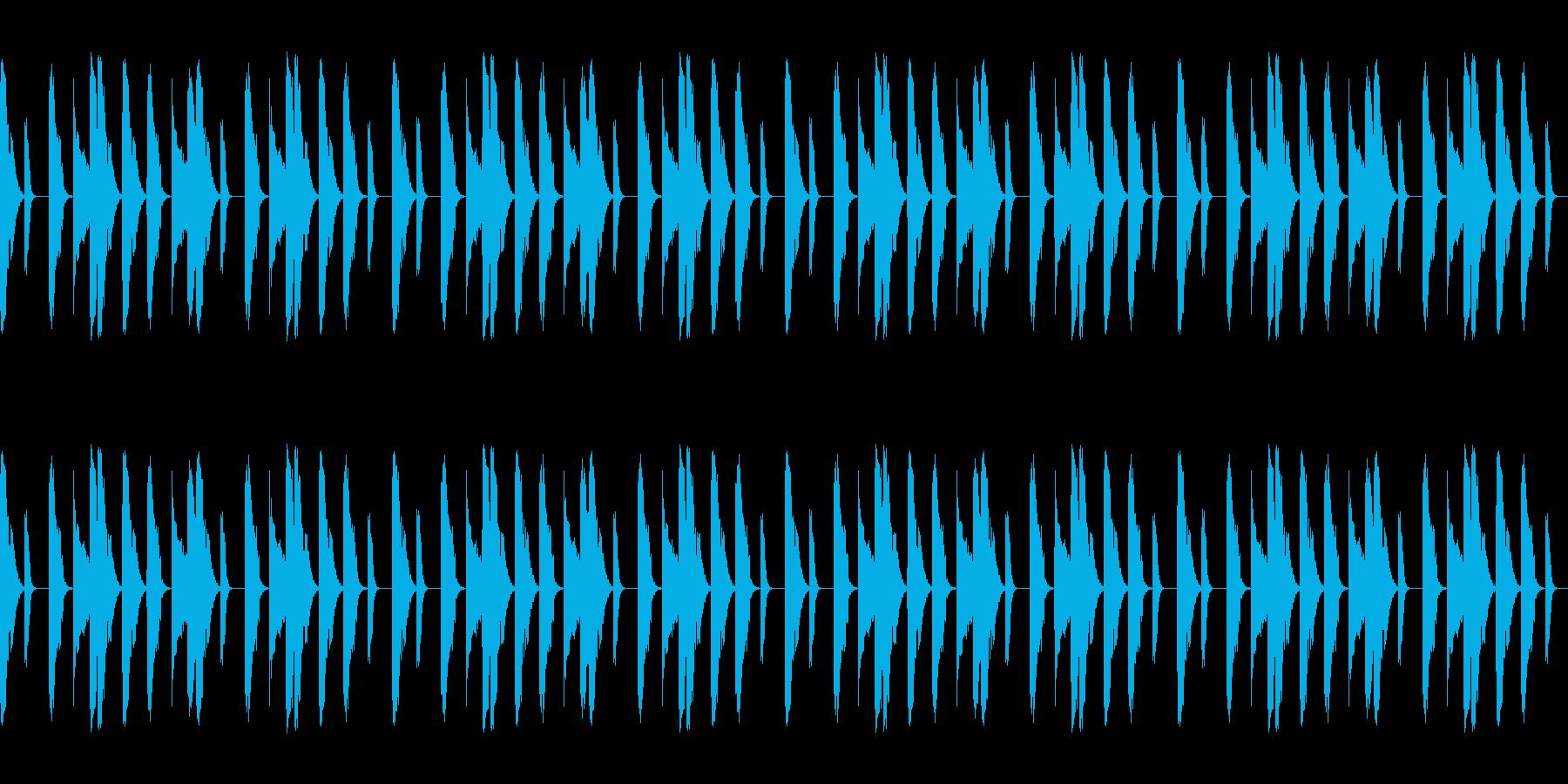 Boombap系ヒップホップビート8小節の再生済みの波形