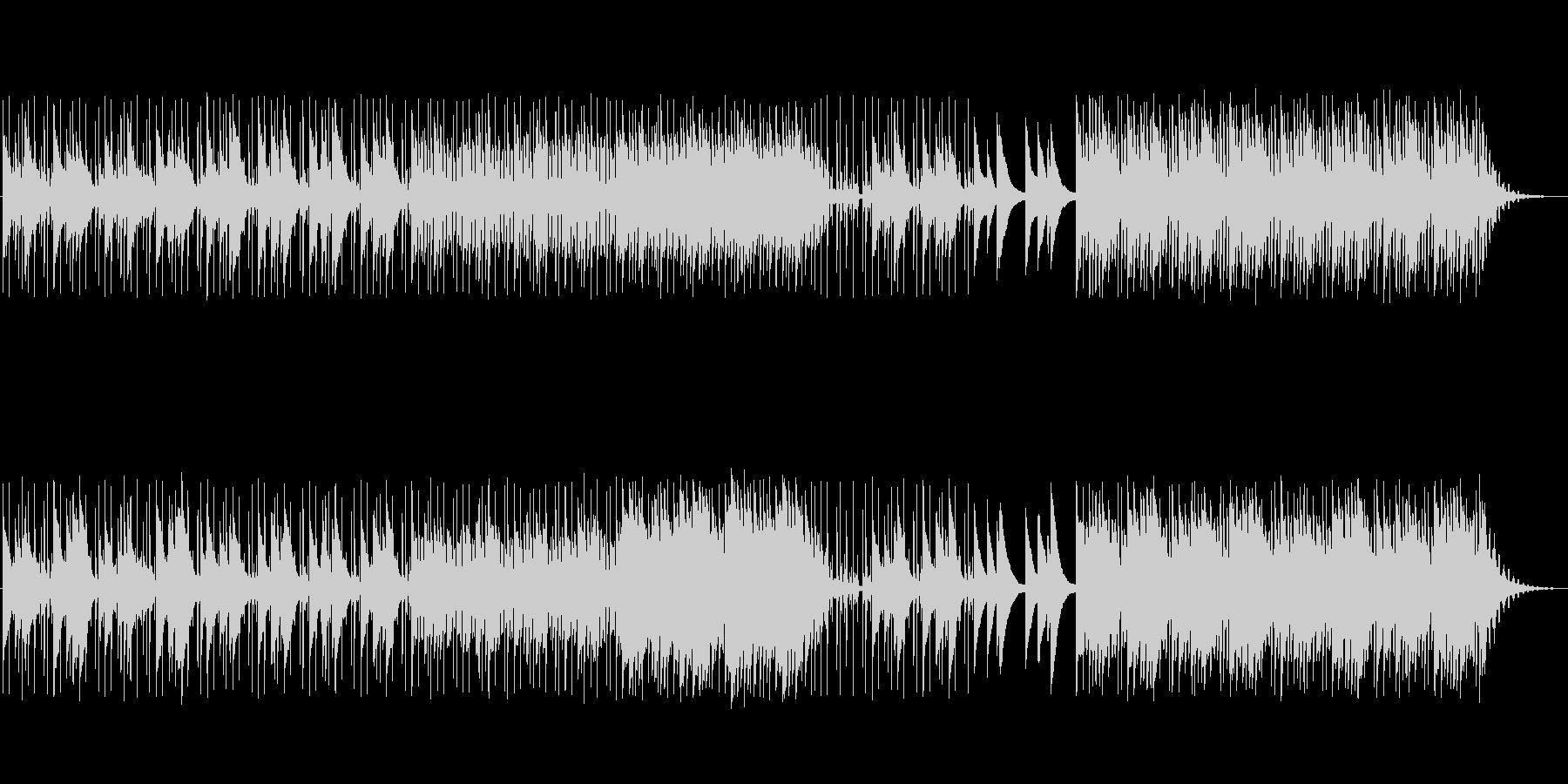 グロッケンがメロディーの静かな曲の未再生の波形
