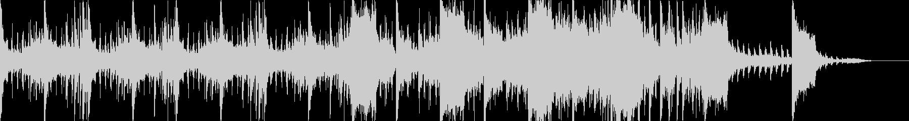 エレクトロなシネマティックな曲の未再生の波形