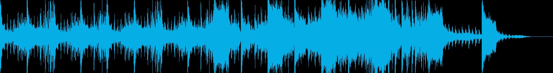 エレクトロなシネマティックな曲の再生済みの波形