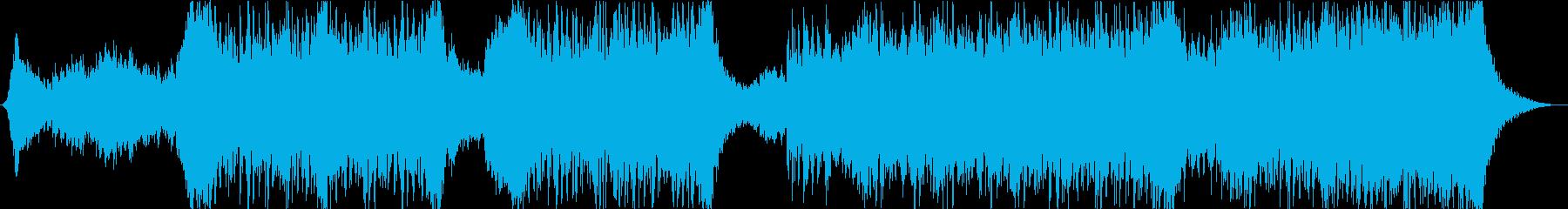 何かが迫ってくるような緊迫したサウンドの再生済みの波形