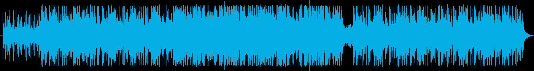 ゆったりしたリズムとアコギの再生済みの波形