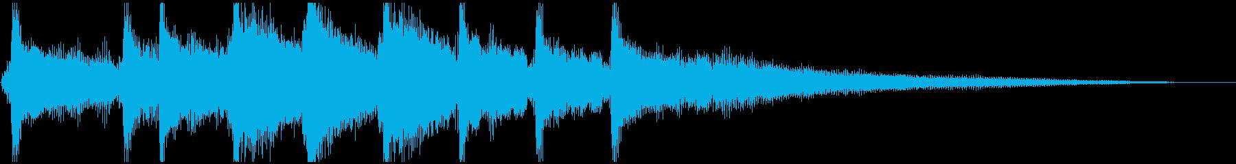 怪しげなインド風エスニックサウンドの再生済みの波形