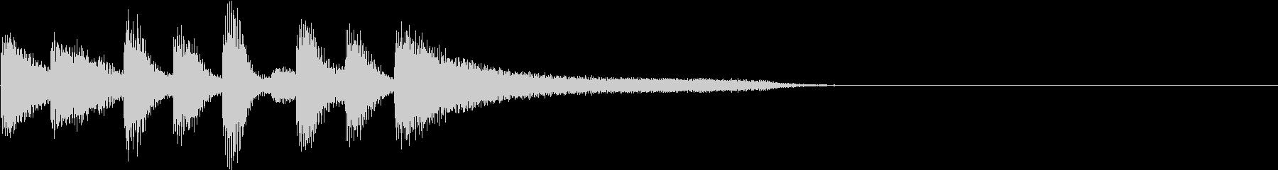 ボサノバなピアノソロ ジングル の未再生の波形