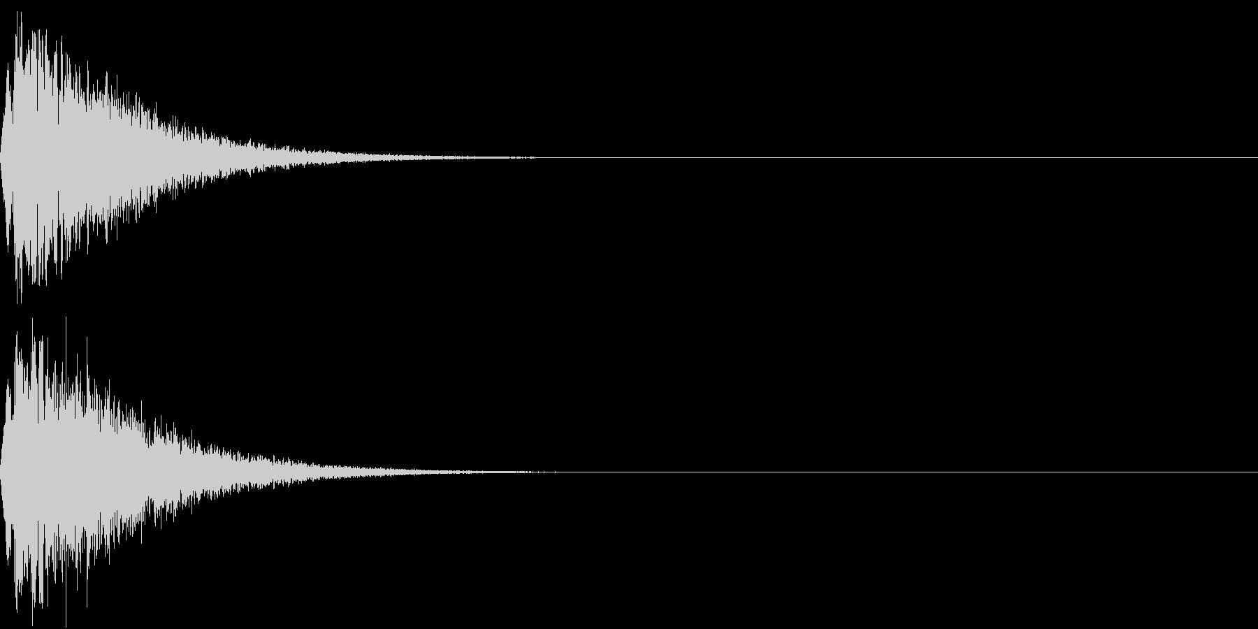 キュイン ボタン ピキーン キーン 15の未再生の波形