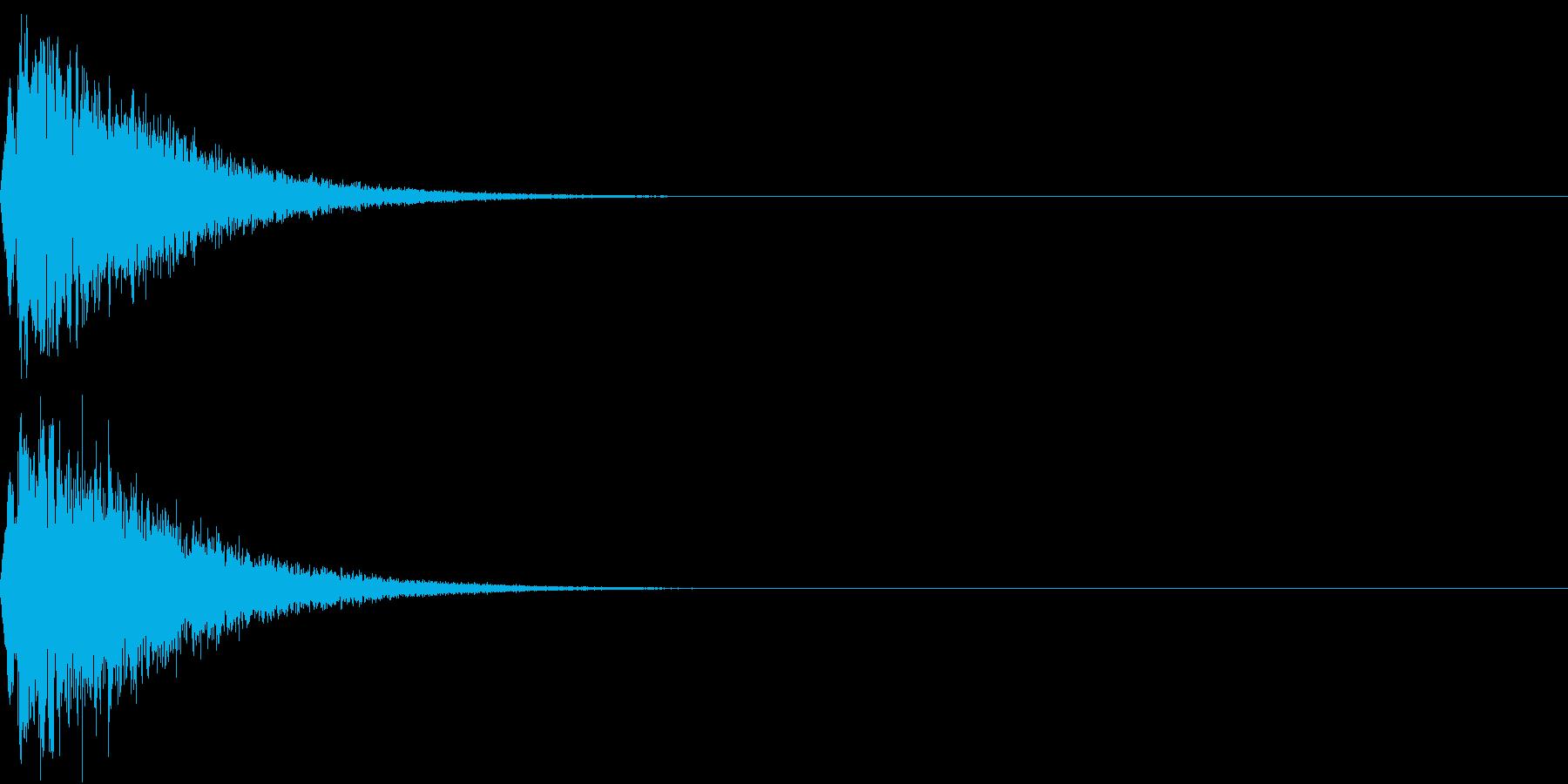 キュイン ボタン ピキーン キーン 15の再生済みの波形