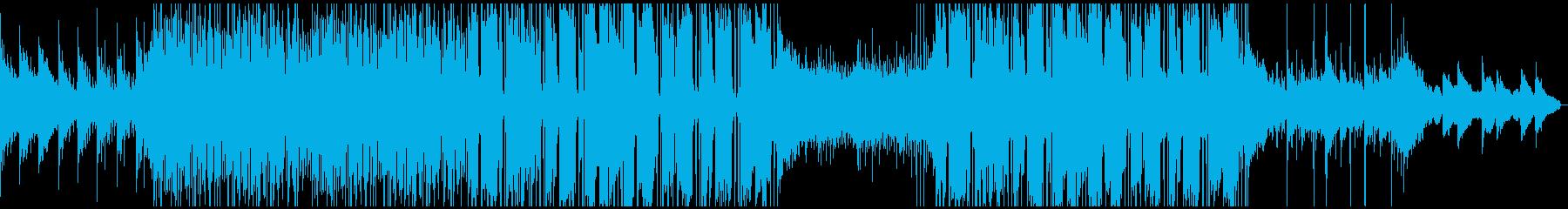 近未来的でスタイリッシュな雰囲気の曲の再生済みの波形