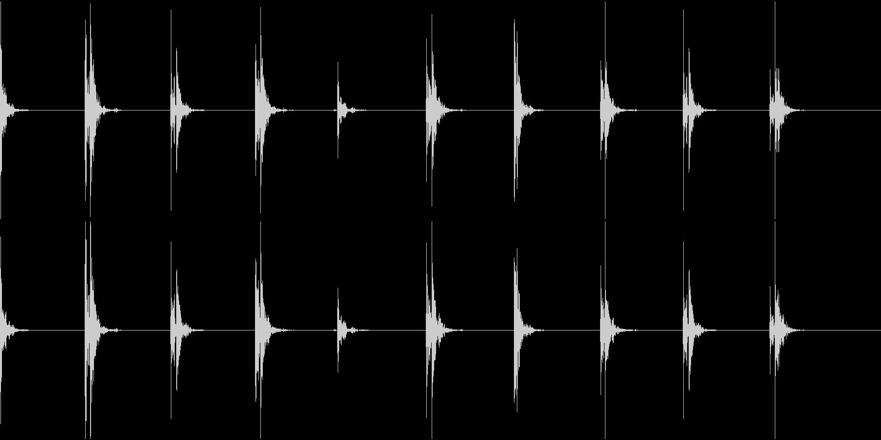 【生録音】足音2 スリッパorスニーカーの未再生の波形