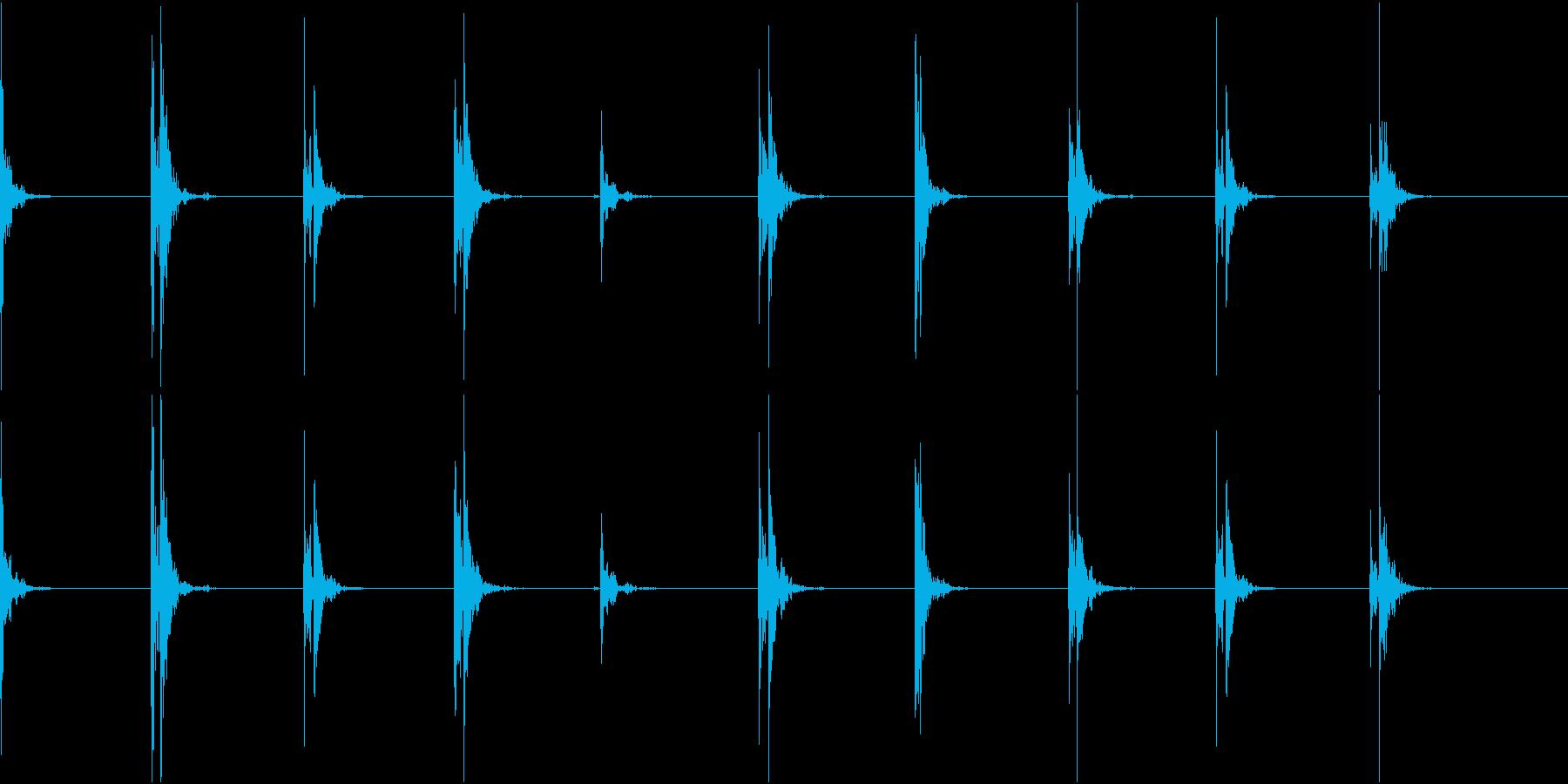 【生録音】足音2 スリッパorスニーカーの再生済みの波形