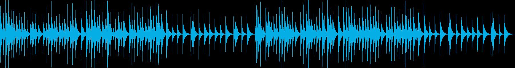 幸せな感情をイメージしたオルゴール曲の再生済みの波形