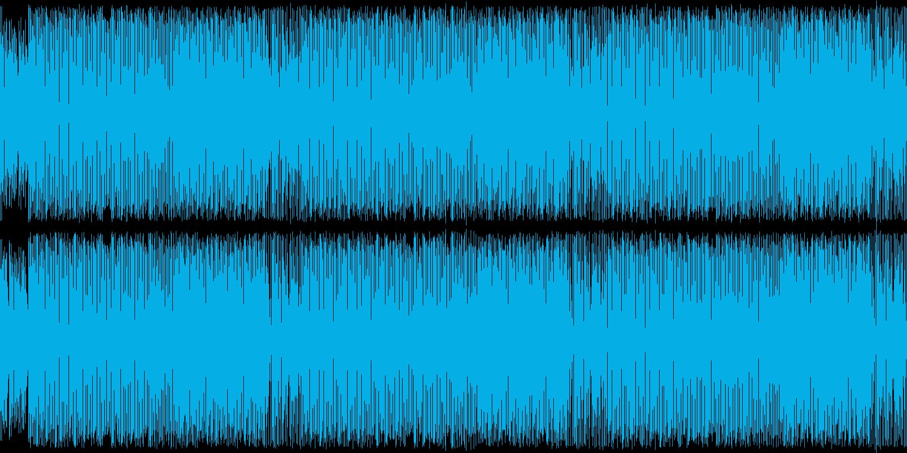 レトロゲーム風可愛いテクノポップ・ループの再生済みの波形