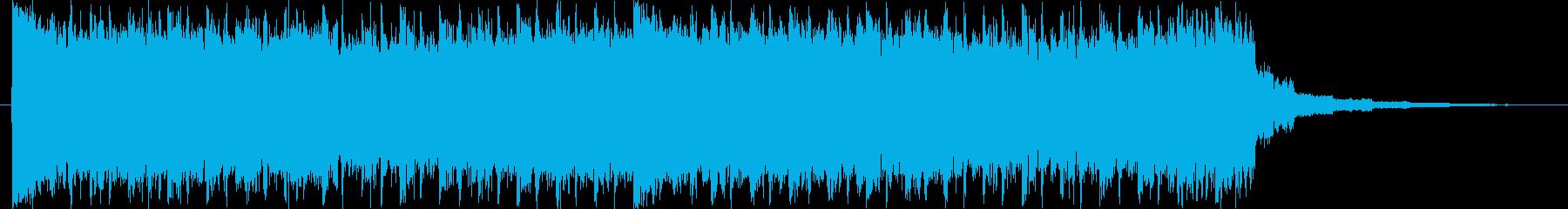 パワフル、アップテンポ、未来的サウンドの再生済みの波形