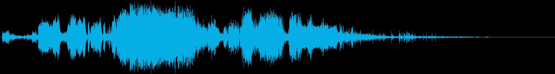 大きな電気スパークの再生済みの波形