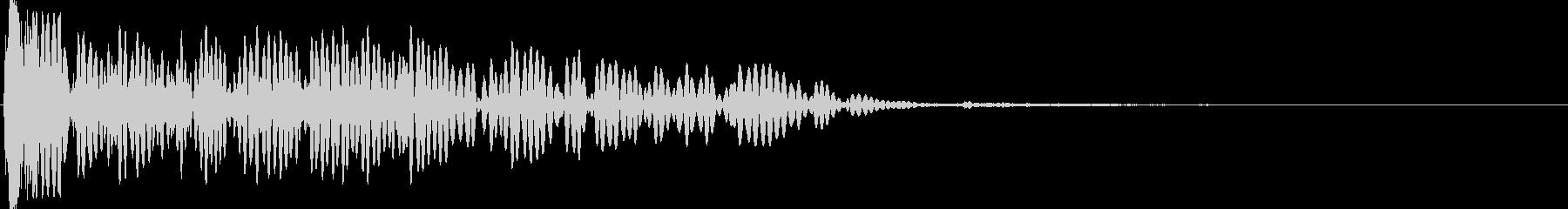 ヘビーブーミンググラウンドインパクトの未再生の波形