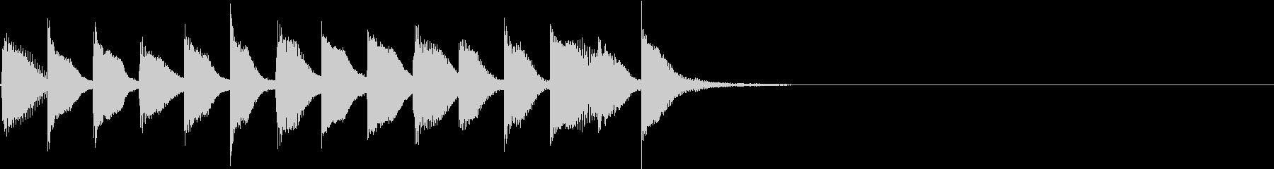 明るく かわいいピアノサウンドロゴ12の未再生の波形