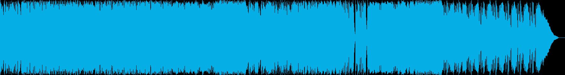 メタルロック壮大なオーケストラとピアノの再生済みの波形