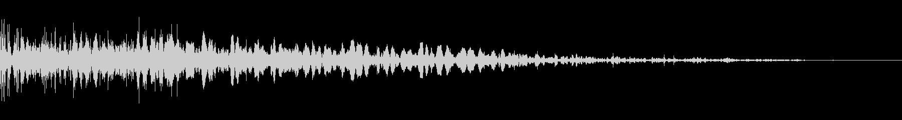砕け散る音02の未再生の波形