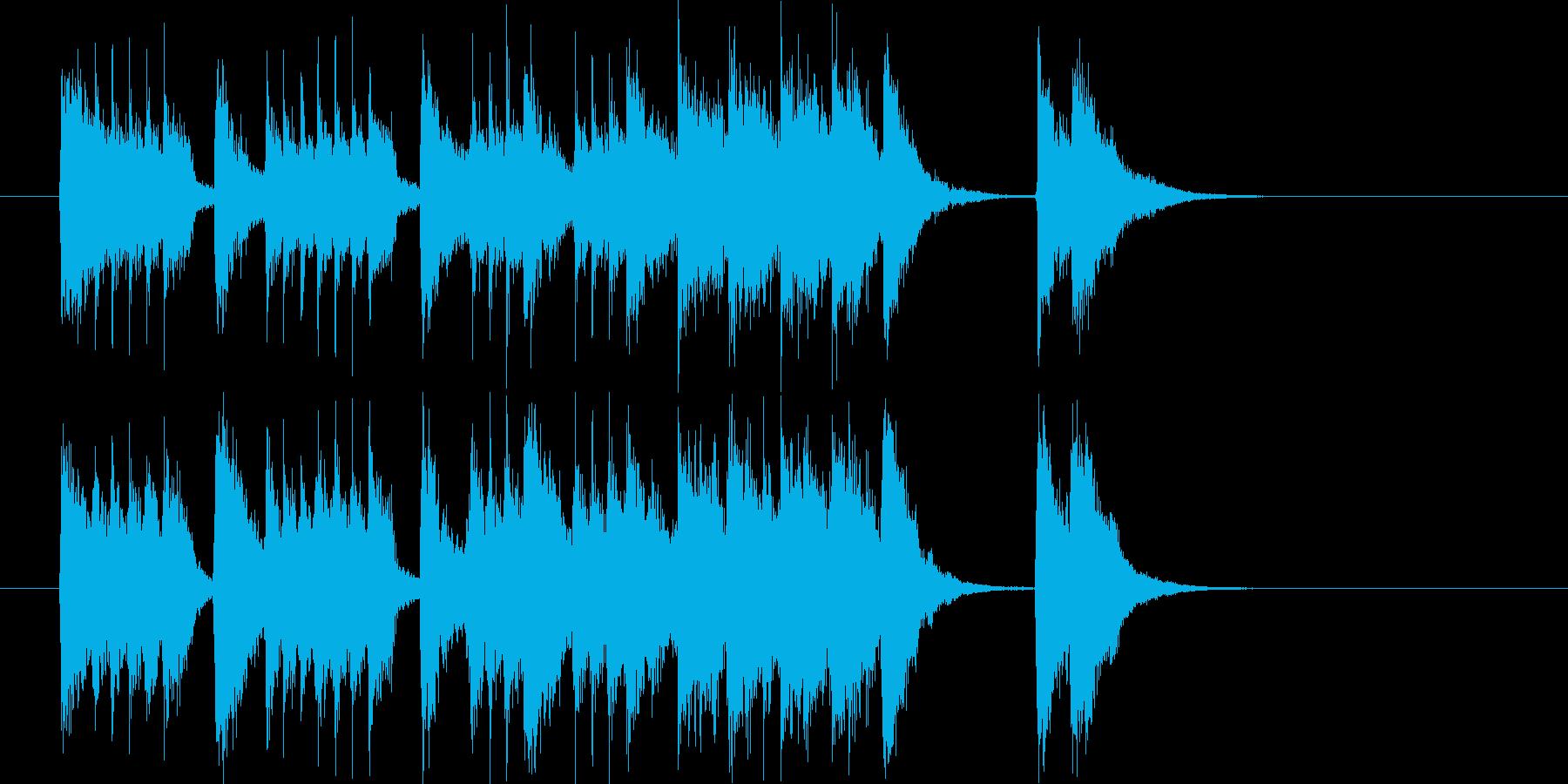 ドキドキと弾けるアップテンポなジングルの再生済みの波形