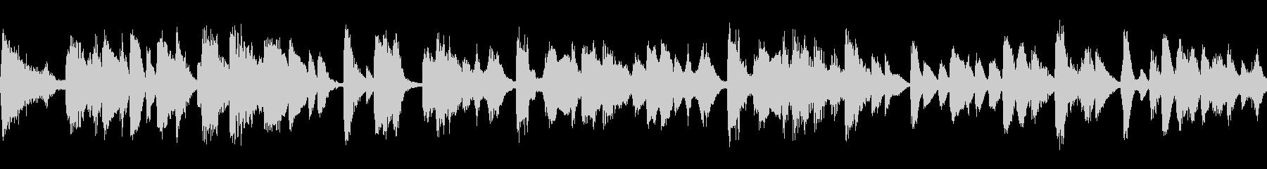 軽快なジャジーなピアノ曲の未再生の波形