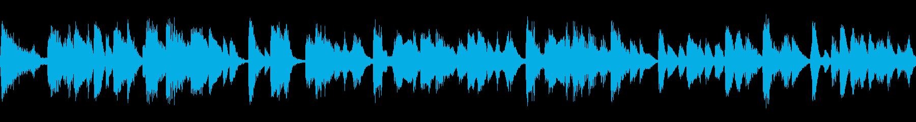 軽快なジャジーなピアノ曲の再生済みの波形