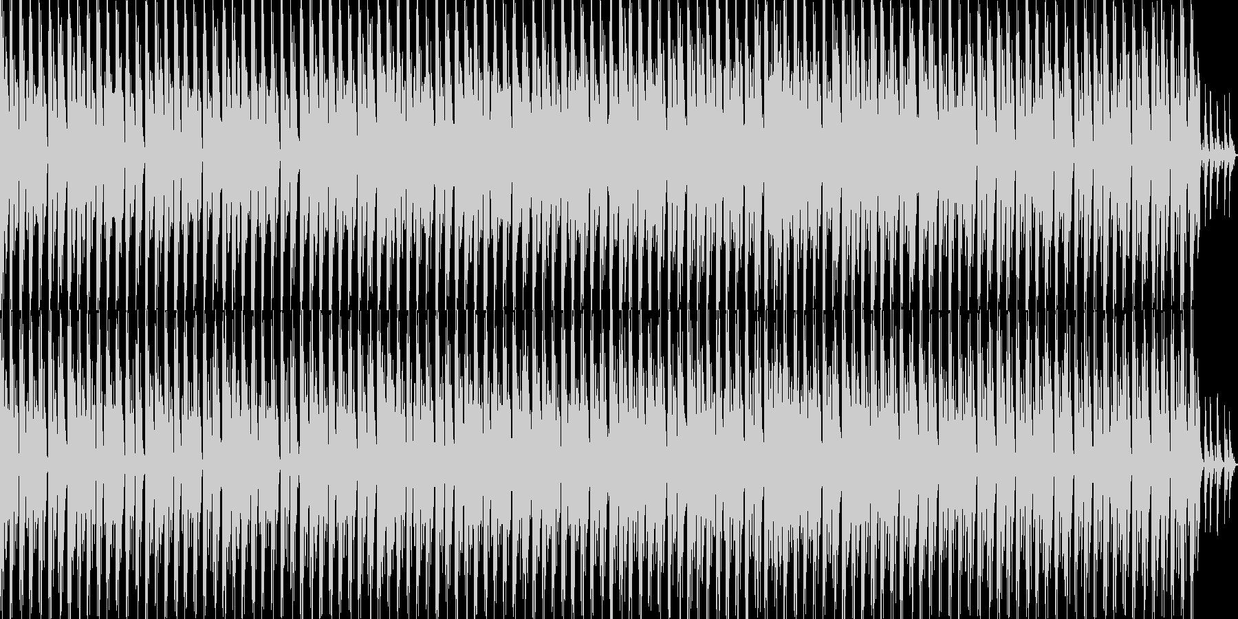 進歩的な技術/ハウス。ミニマルで、...の未再生の波形