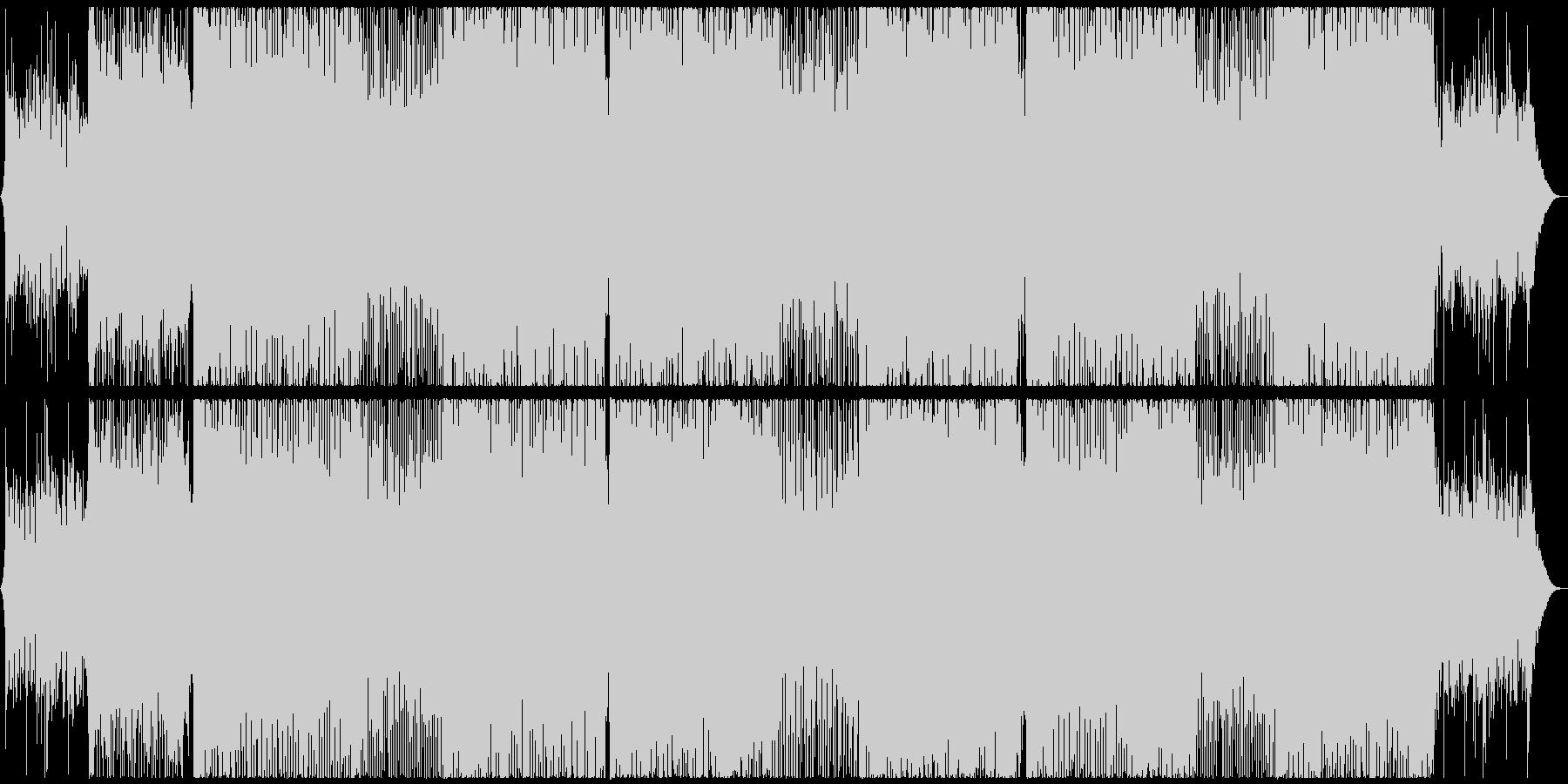 幻想的なピアノ旋律・トランス系戦闘曲の未再生の波形