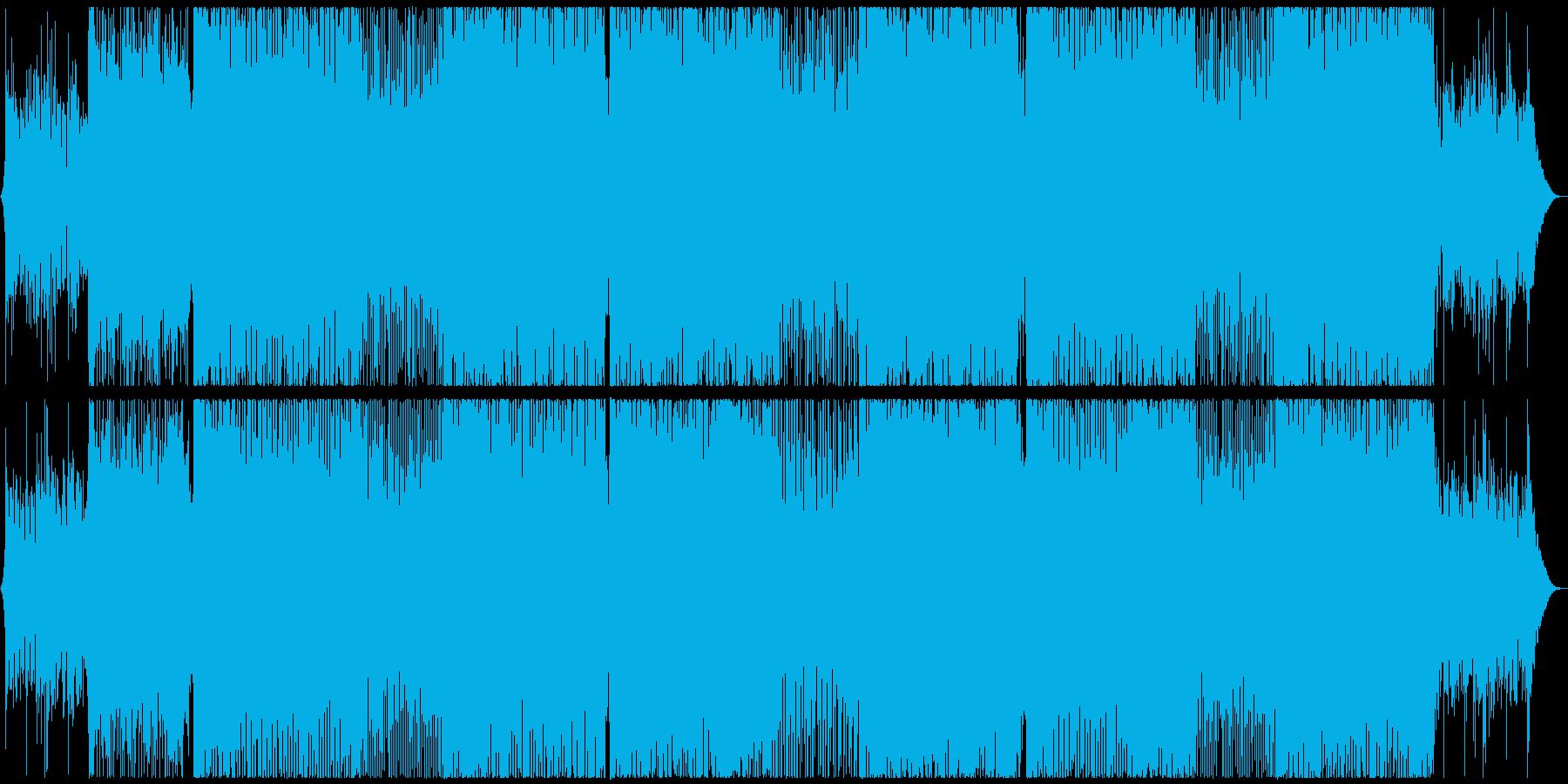幻想的なピアノ旋律・トランス系戦闘曲の再生済みの波形