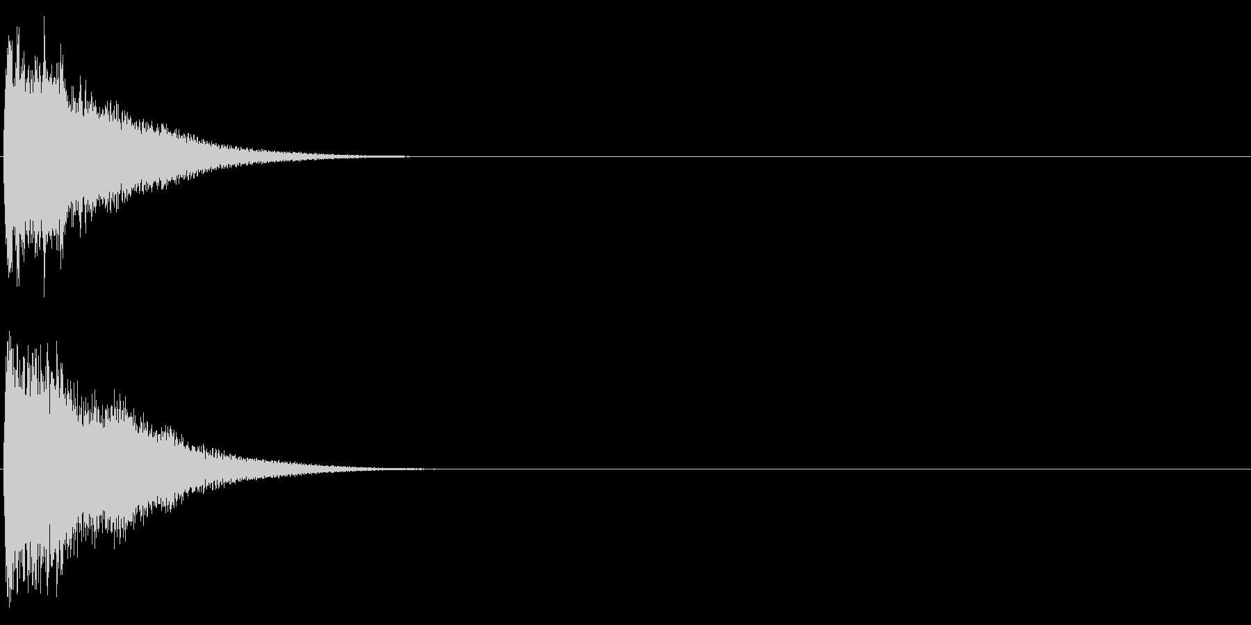 ゴング (ドワ―――ン)の未再生の波形
